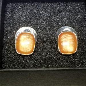 Silver Kenneth Cole ArtGlass Earrings #73